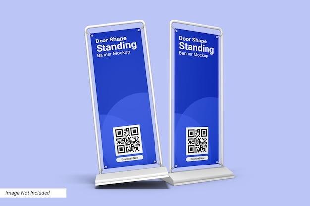 ドア形状スタンディングバナーモックアップデザイン分離 Premium Psd