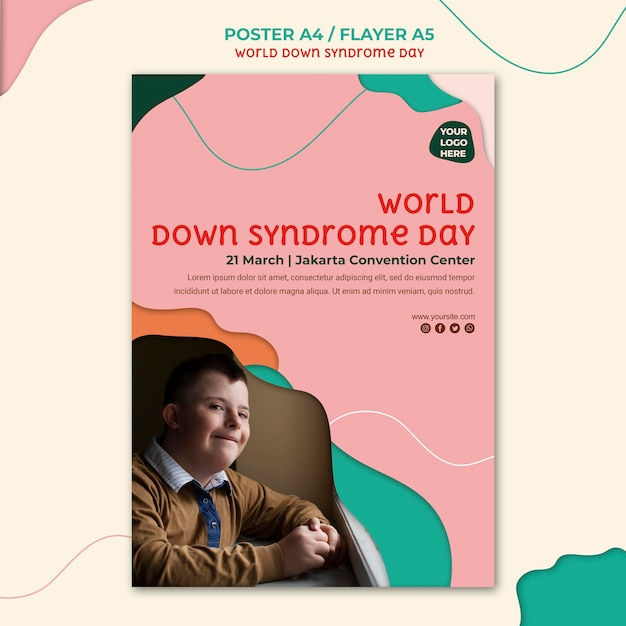 Down syndrome day flyer template Free Psd