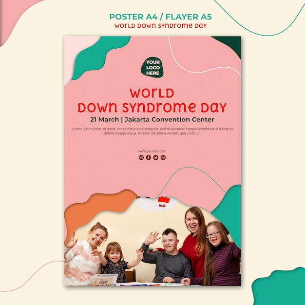 Down syndrome day poster design Free Psd
