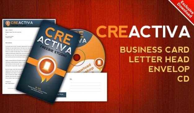 Download business card letterhead envelope cd label psd ...