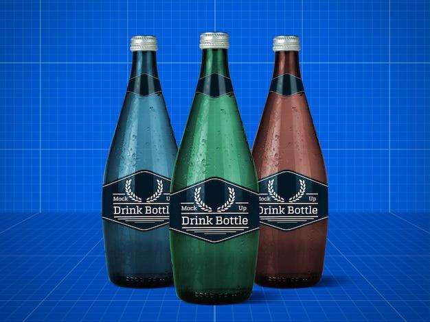 Drink bottle mockup Premium Psd