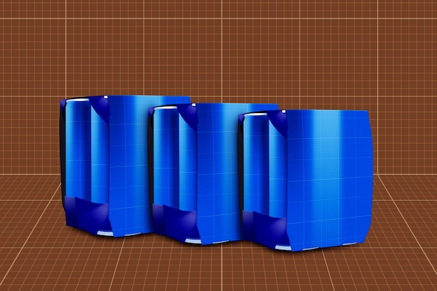 Drink can & 6 pack mockup Premium Psd