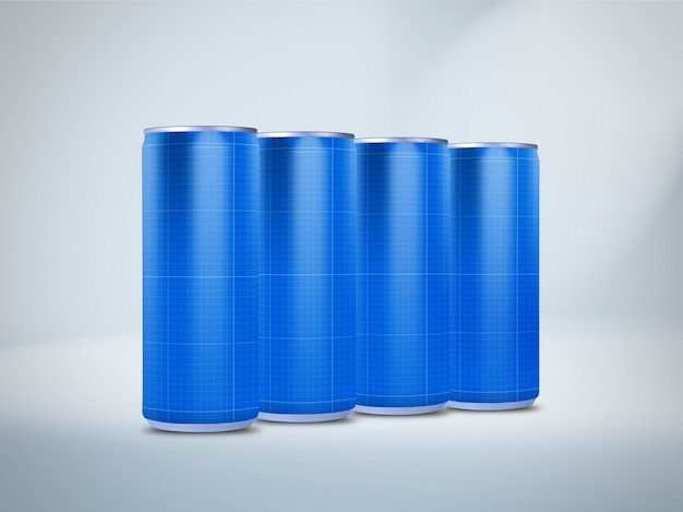Drink cans mockup Premium Psd