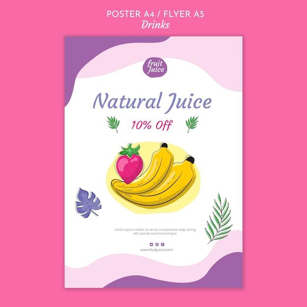 음료 포스터 템플릿 무료 PSD 파일