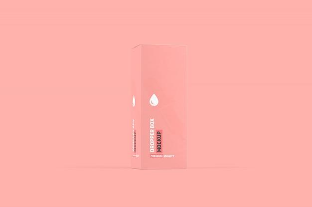 Dropper bottle box packaging mockup Premium Psd