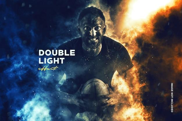 Двойной световой эффект фотографии Premium Psd