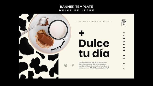 Dulce de leche concept banner template Free Psd