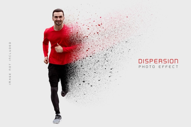 Dust dispersion photo effect template Premium Psd