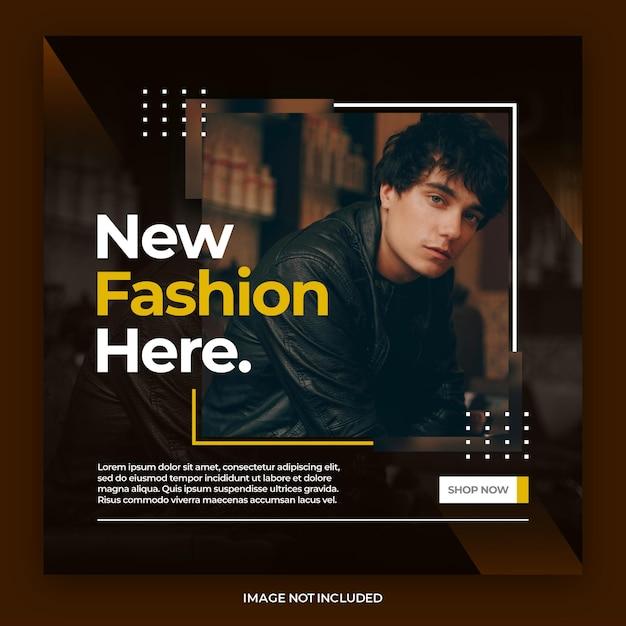 Dynamic elegant social media instagram banner or square flyer post template Premium Psd