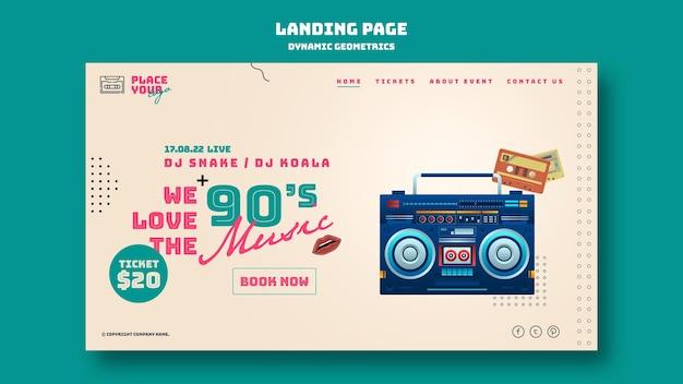 Dynamic geometrics landing page Premium Psd
