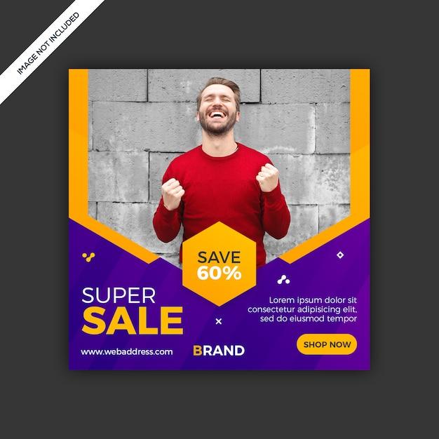 Dynamic modern social media instagram post sale banner Premium Psd