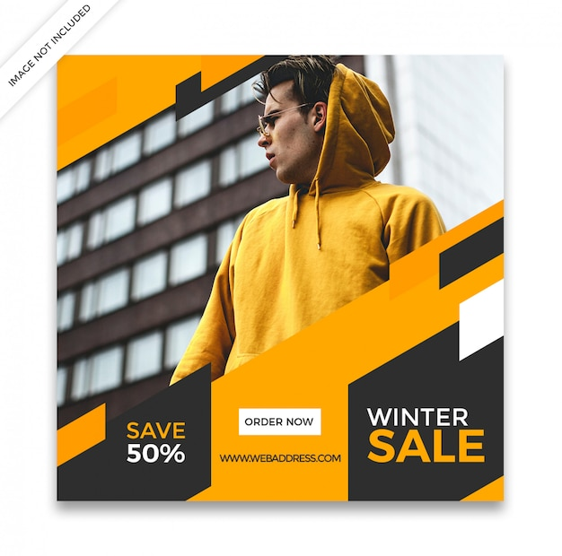 Dynamic sale social media post template