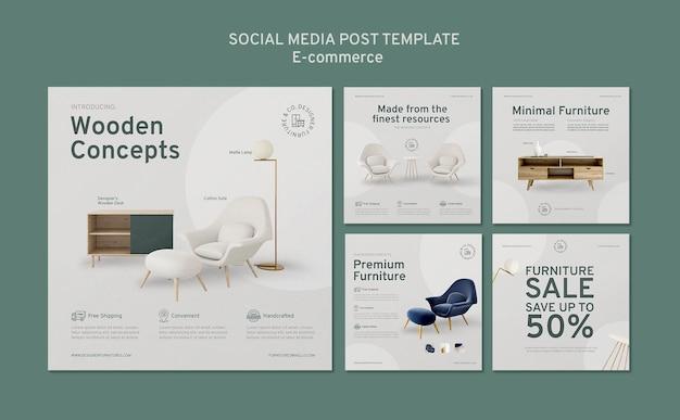 E commerce social media post Free Psd
