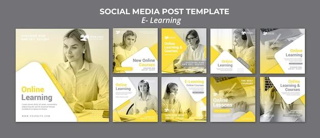 E learning social media post Premium Psd