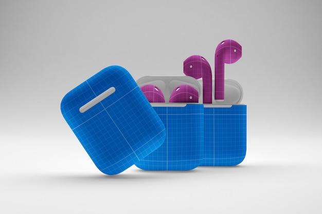 Чехлы для наушников mockup Premium Psd