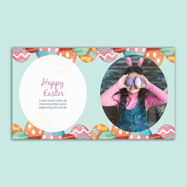 Easter banner template Free Psd