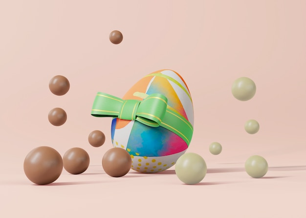 Easter concept mock-up Free Psd