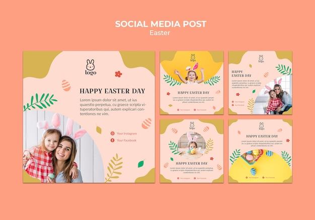 Easter day festival social media post Free Psd