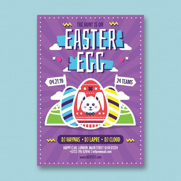 Easter flyer template Premium Psd