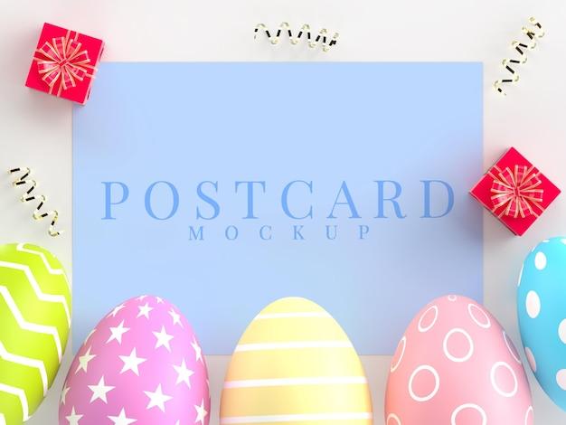 엽서의 부활절 휴가 창조적 인 모형 프리미엄 PSD 파일