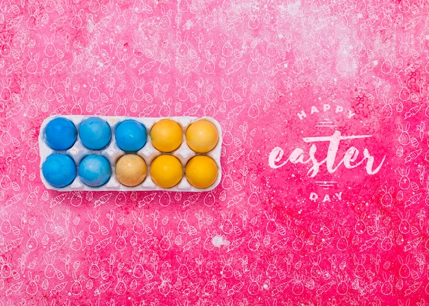 Easter Mockup With Egg Box Psd File Free Download