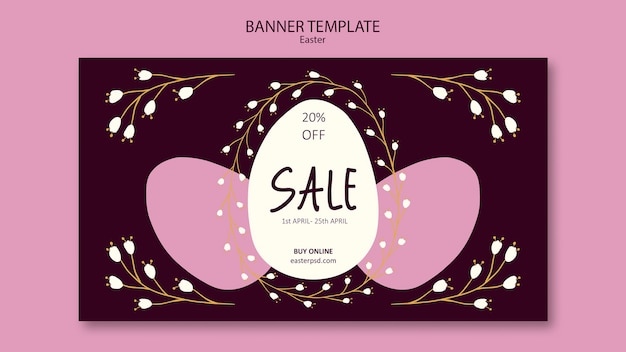 Easter weekend sales banner template Free Psd