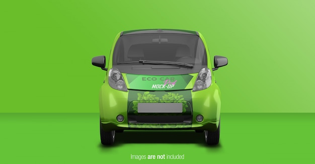 Eco car psd mockup front view Premium Psd