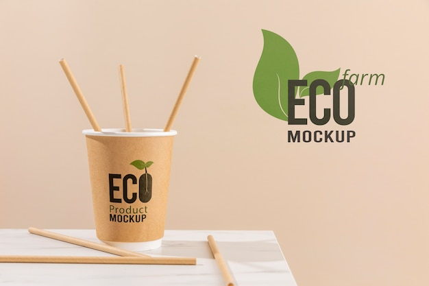 Eco friendly concept mock-up Free Psd