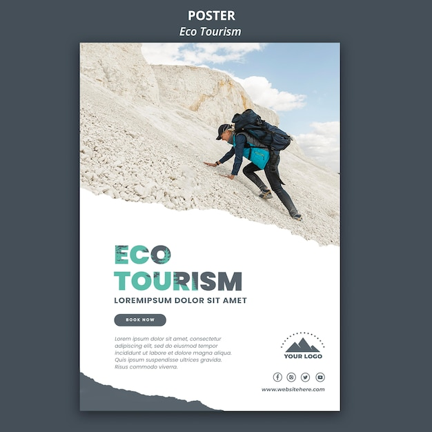 Modello di manifesto del turismo ecologico Psd Gratuite