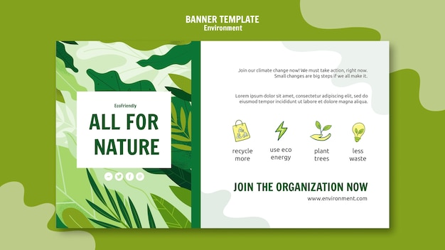 Ecological measures banner template Free Psd