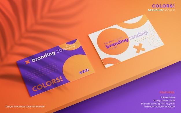 Editable business card mockup Free Psd
