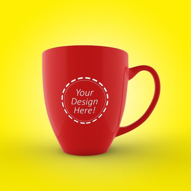 Editable cafe mug mockup design template Premium Psd