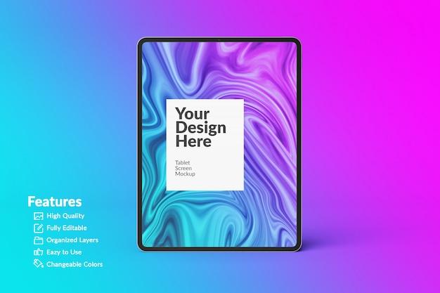 Editable digital device tablet screen mockup Premium Psd