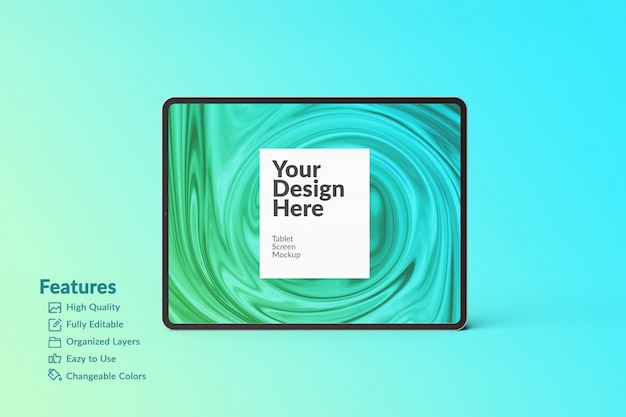 Editable digital device tablet screen mockup Premium Psd