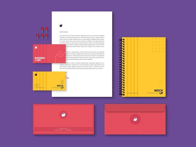 편집 가능한 현대적인 고품질 브랜딩 편지지 모형 프리미엄 PSD 파일