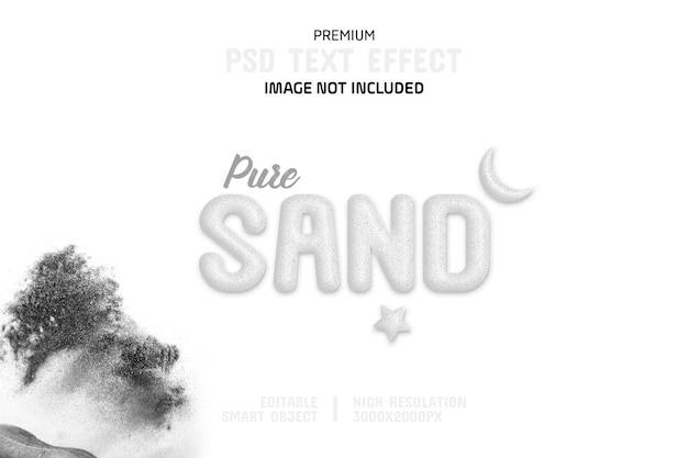 Editable pure sand text effect template Premium Psd