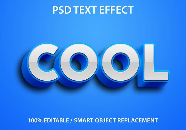편집 가능한 텍스트 효과 Blue Cool Premium 프리미엄 PSD 파일