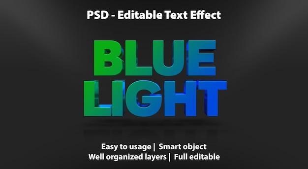 編集可能なテキスト効果ブルーライト Premium Psd
