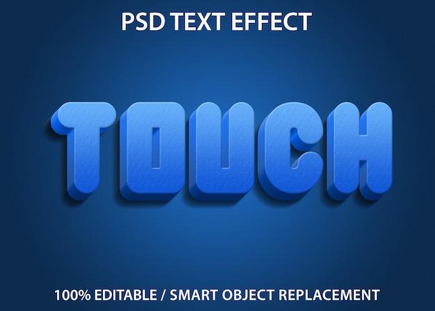 편집 가능한 텍스트 효과 Blue Touch Premium 프리미엄 PSD 파일