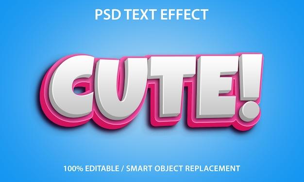 Редактируемый текстовый эффект cute premium Premium Psd