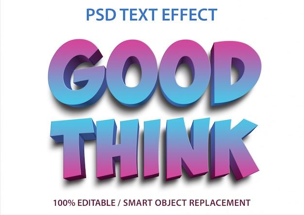 編集可能なテキスト効果good think premium Premium Psd