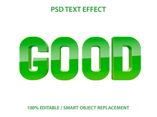 編集可能なテキスト効果グリーングッド Premium Psd
