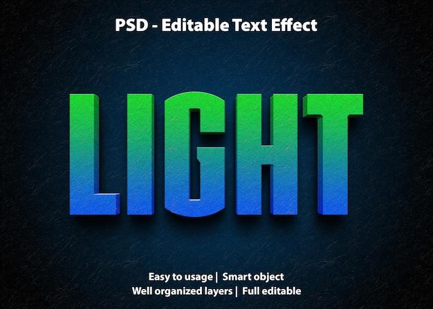 編集可能なテキスト効果ライト Premium Psd