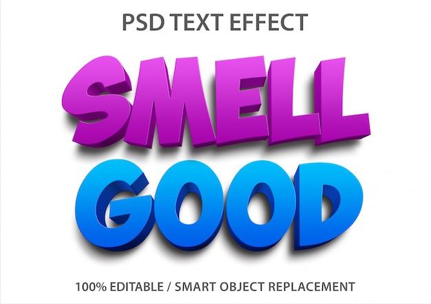 編集可能なテキスト効果良い香り Premium Psd