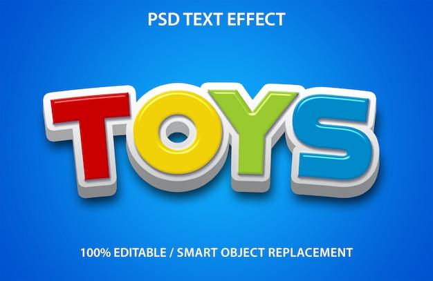 Редактируемые игрушки с текстовым эффектом Premium Psd