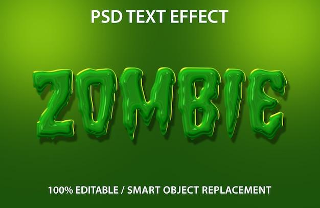 편집 가능한 텍스트 효과 좀비 프리미엄 프리미엄 PSD 파일