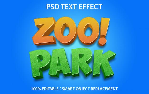 編集可能なテキスト効果動物園 Premium Psd