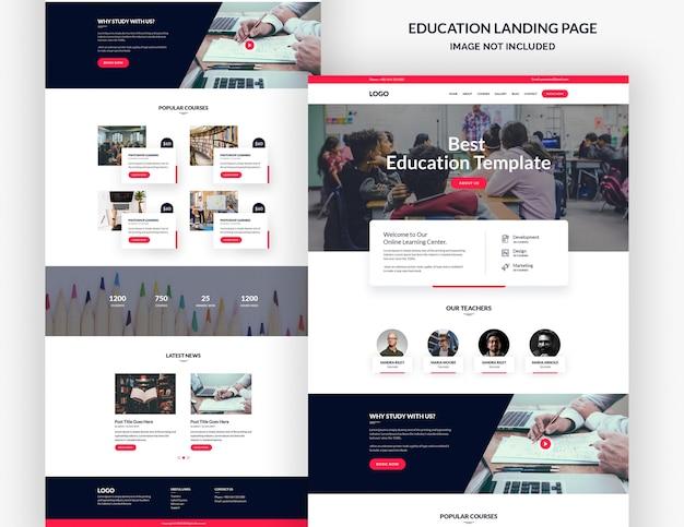 Шаблон целевой страницы образовательного курса Premium Psd