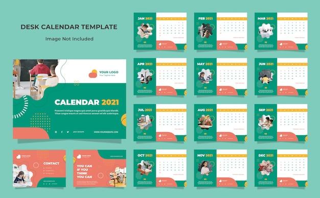 Шаблон оформления календаря стол образования Premium Psd