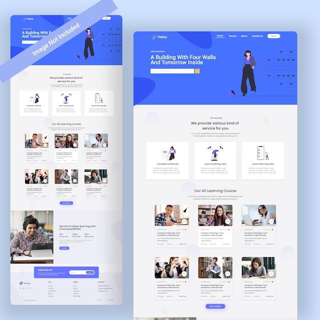 教育用ウェブランディングページ Premium Psd